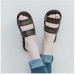 Pali Hawaii Shoes - Pali Hawaii Dark Brown Classic Jandals